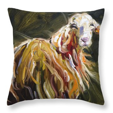 Abstract Sheep Throw Pillow