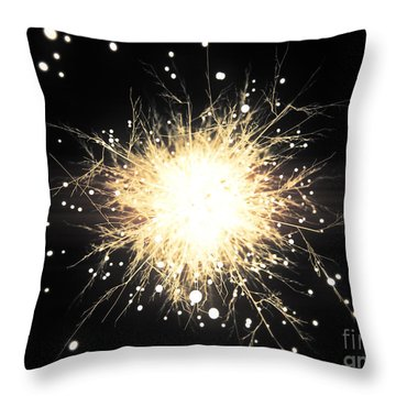Abstract Sparkle Throw Pillow by Pixel Chimp