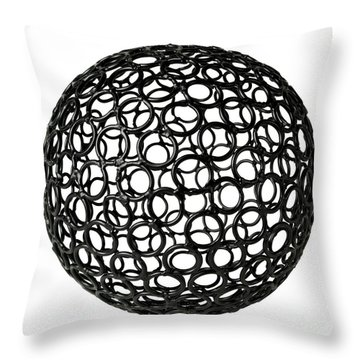 Abstract Sphere Throw Pillow by Tony Cordoza