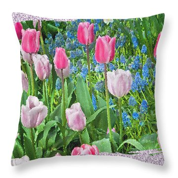 Abstract Spring Floral Fine Art Prints Throw Pillow
