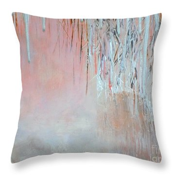 Abstract Spring Throw Pillow by Donna Dixon