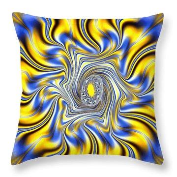 Abstract Spun Flower Throw Pillow