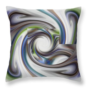 Throw Pillow featuring the digital art Abstract - Stairstep Through Time by rd Erickson