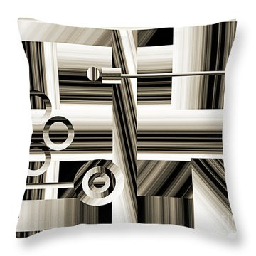 Abstract Station The Road To No Where Throw Pillow by Andee Design