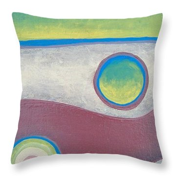 Abstract Throw Pillow by Steve  Hester