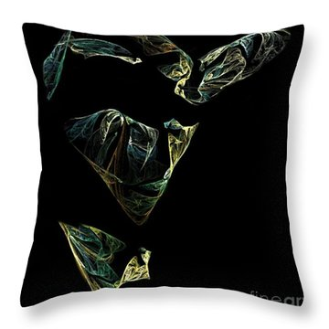 Abstract Stranger Throw Pillow by Sara  Raber