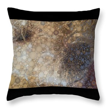 Abstract Study Of The Nose Of The Bichon Frise Throw Pillow