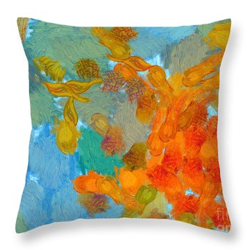 Abstract Summer #2 Throw Pillow by Pixel Chimp