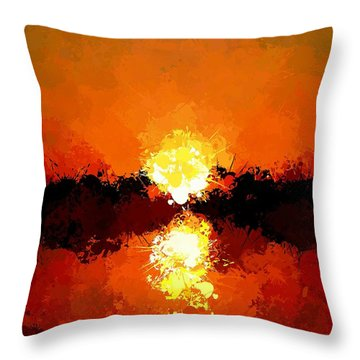 Abstract Sunset On The Sea Throw Pillow