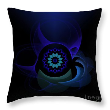 Throw Pillow featuring the digital art Abstract Surprise by Hanza Turgul