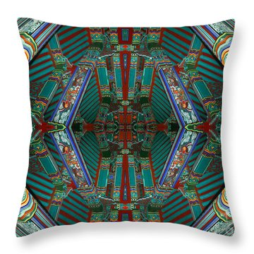 abstract surrealism photography - Beam Me Up IV Throw Pillow