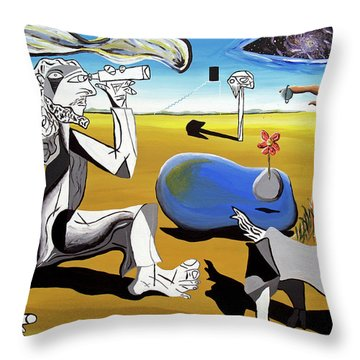 Throw Pillow featuring the painting Abstract Surrealism by Ryan Demaree