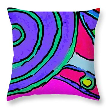 Abstract Swirl Throw Pillow