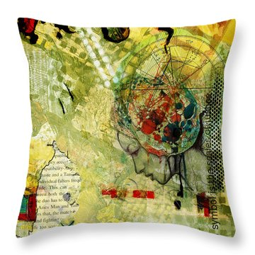 Abstract Tarot Art 009 Throw Pillow by Corporate Art Task Force