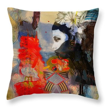 Abstract Tarot Art 011 Throw Pillow by Corporate Art Task Force