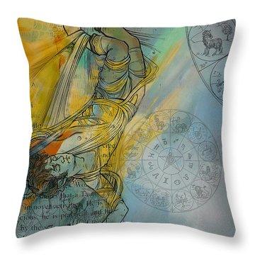 Abstract Tarot Art 015 Throw Pillow by Corporate Art Task Force