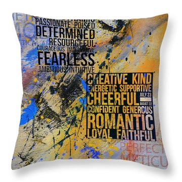 Abstract Tarot Art 018 Throw Pillow by Corporate Art Task Force