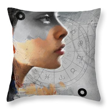 Abstract Tarot Art 019b Throw Pillow by Corporate Art Task Force
