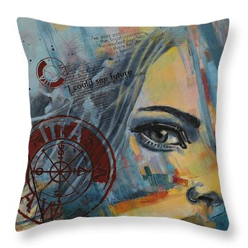 Abstract Tarot Art 022a Throw Pillow by Corporate Art Task Force