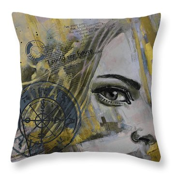 Abstract Tarot Art 022b Throw Pillow by Corporate Art Task Force