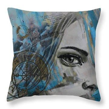 Abstract Tarot Art 022c Throw Pillow by Corporate Art Task Force
