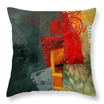 Abstract Tarot Card 004 Throw Pillow by Corporate Art Task Force
