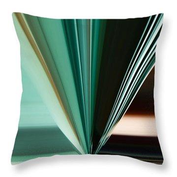 Abstract - Teal - Aqua - Five Throw Pillow
