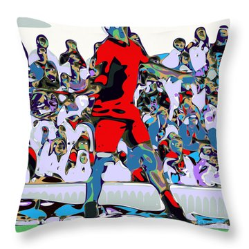 Abstract Tennis Throw Pillow by Chris Butler