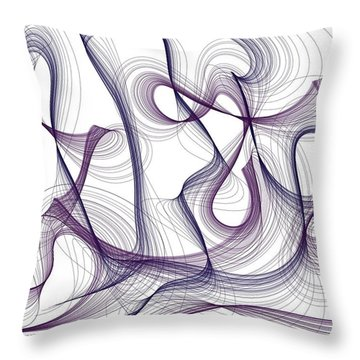 Abstract Thoughts Throw Pillow