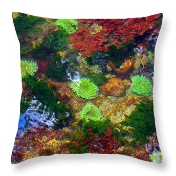 Abstract Tidal Pool Throw Pillow