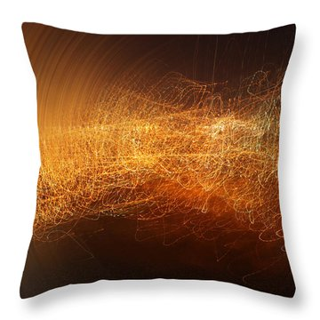 Abstract Time Throw Pillow