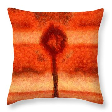 Abstract Tree Throw Pillow by Pixel Chimp