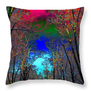 Throw Pillow featuring the photograph Abstract Trees by Pete Trenholm