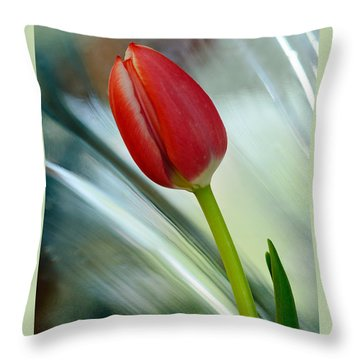Abstract Tulip Under Glass Throw Pillow