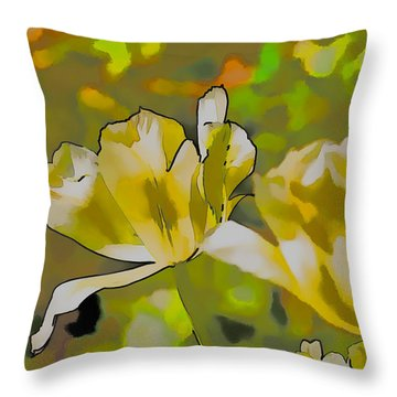 Throw Pillow featuring the photograph Abstract Tulip by Leif Sohlman