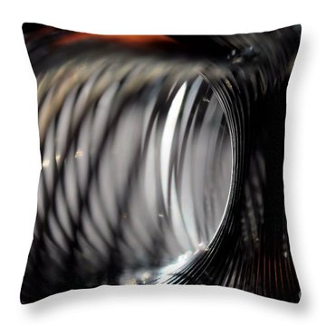 Throw Pillow featuring the photograph Abstract Tunnel by Kenny Glotfelty