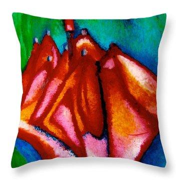 Abstract Umbrella Throw Pillow
