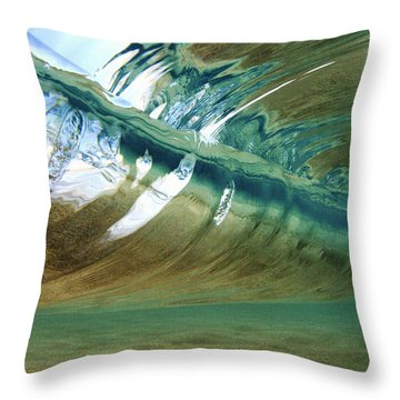 Abstract Underwater 2 Throw Pillow by Vince Cavataio - Printscapes