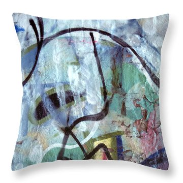 abstract urban art - Paint Your Mountain Throw Pillow