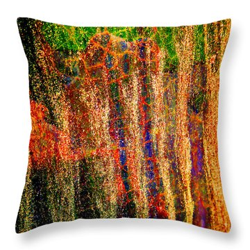 Abstract Vibe 3 Throw Pillow