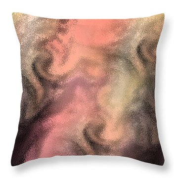 Abstract Watercolor And Ink Digital Painting Throw Pillow by Georgeta Blanaru