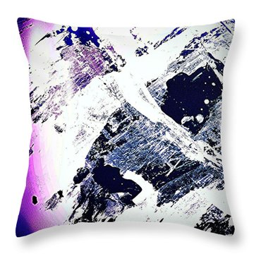 Purple And White 2 Throw Pillow