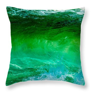 Abstract Wave 3 Throw Pillow