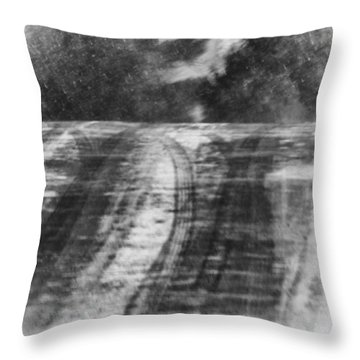 Abstract Winter Storm Throw Pillow by Thomas Young