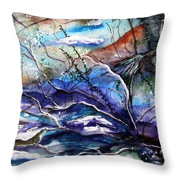 Throw Pillow featuring the painting Abstract Wolf by Lil Taylor