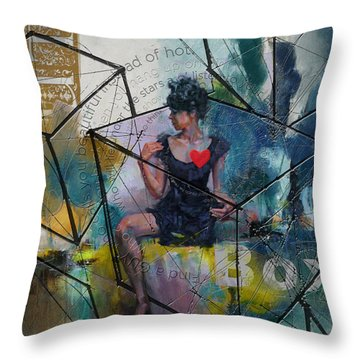 Abstract Woman 002 Throw Pillow by Corporate Art Task Force