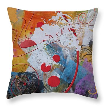 Abstract Women 012 Throw Pillow by Corporate Art Task Force