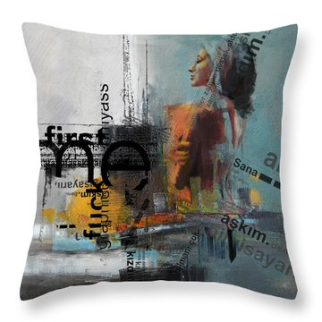 Abstract Women 013 Throw Pillow by Corporate Art Task Force
