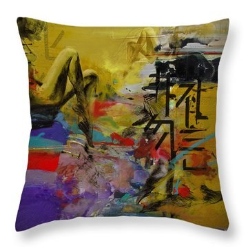 Abstract Women 016 Throw Pillow by Corporate Art Task Force