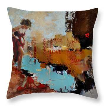 Abstract Women 019 Throw Pillow by Corporate Art Task Force